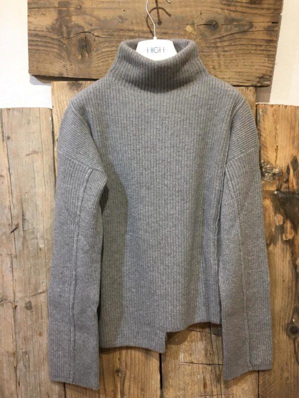 HIGH maglia 'Fable' grigio due spessori diversi.